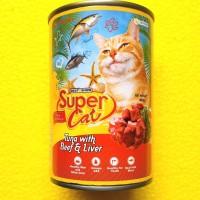 SUPER CAT rasa TUNA BEEF LIVER untuk KUCING DEWASA 400gr