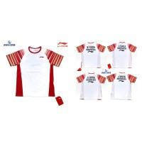 Kaos Badminton Lining Sudirman Cup Player Series with Name White