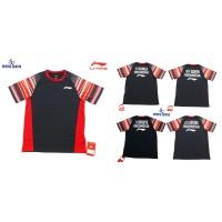 Kaos Badminton Lining Sudirman Cup Player Series with Name Black