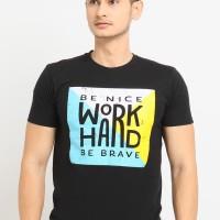 Kaos Pria 'BE NICE & WORK HARD' / Kaos Katun / Tshirt Baju Cowok
