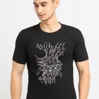 NewG Kaos Hitam Pria UFO / Kaos Katun / Tshirt Cowok / Baju Casual
