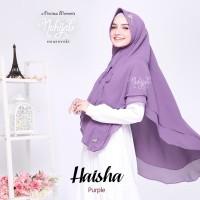 Hijab Syari Sifon Ceruty ORI Nuhijab Haisha Khimar Dua Layer size L