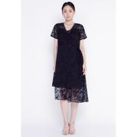 Atelier Mode Cocktail Dress Asymetrique Lois Dress Wanita