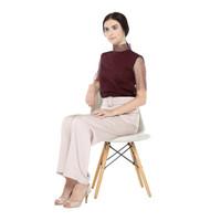 Atelier Mode Top Crystal Tulle Amandine Blouse Wanita