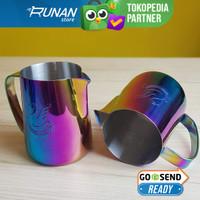 Sharp Spout Latte Art Jug NOT Jibbi Jug 600ml Rainbow Milk Jug Lancip
