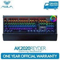 TOP SELLER AULA AK2020 FULL MECHANICAL KEYBOARD RAINBOW LED LIGHT -