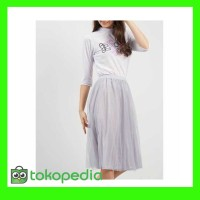 TERBARU pakaian wanita baju setelan cewek kaos putih dan rok midi