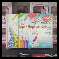 168 pcs - pensil warna, alat tulis set crayon, coloring set, colouring