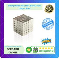 Mainan Magnet - Buckycubes Magnetic Block Toys 216pcs 4mm