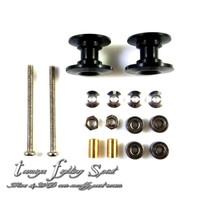 Rep Tamiya 95231 Roller Double Aluminium Bearing 12-13mm Black (RDL01)