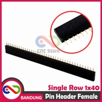 [CNC] PIN HEADER FEMALE STRIP SINGLE ROW 1X40 2.54MM BLACK HITAM
