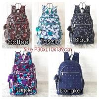 KP0733 Tas Ransel Import Backpack Kipling Motif Medium 4Ruang
