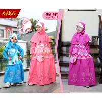 Grosir Gamis Anak Keke GM 487 (Baju Muslim Anak Keke) Original Keren