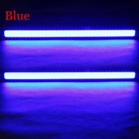 DIY Lampu DRLs LED Strip Warna Biru Waterproof DC12V 17cm 2 PCS