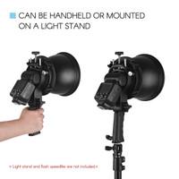 Baru Handheld S-Type Flash Bracket Holder+Standard Reflector dan Flash