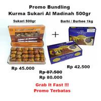 Paket Bundling Kurma Sukari 500gr Dengan Kurma Barhi 1kg