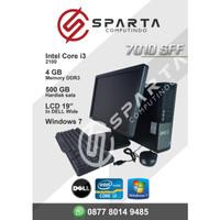Paket Komputer Dekstop Dell 7010 Core I3 2100 Ram 4gb Hdd 500 Gb