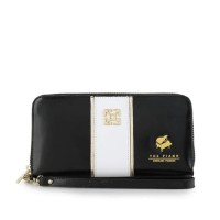 gobelini wallet dompet wanita piano black n white leather kulit ori