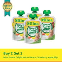 Buy 2 Get 2 Milna Nature Delight Banana, Strawberry, Apple 80gr