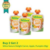 Buy 2 Get 2 Milna Nature Delight Carrot, Apple, Pumpkin 80gr