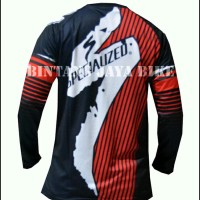 Jersey Sepeda Specialized Red Downhill Exclusive