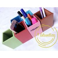 kotak pensil kayu wood pen holder FREE NAMA
