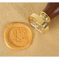 Wooden Handle Rose Flower Pattern Alphabet Wax Seal Stamp A - T
