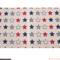 Natural Linen Fabric - Kain Linen Impor Motif Bintang