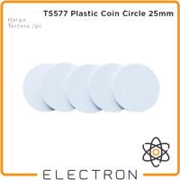 T5577 Koin Bulat RFID 125kHz Proximity Rewritable Coin Copy Clone Tag