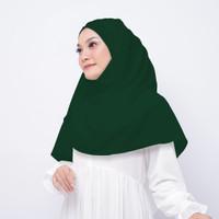 Jilbab Hijab Kerudung Pashmina Instan Diamond Warna HIjau Botol