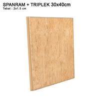 Rangka Spanram + Triplek 30x40 cm