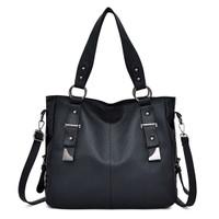 88269 tas handbag kerja kantor / tas impor import wanita black formal