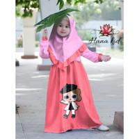 Syari Hana 123 Kid/Gamis Anak/Baju Muslim Anak