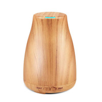 Wooden Grain Essential Oil Diffuser Aromatherapy LED Light 120ML