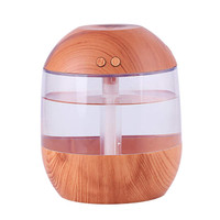 USB Wooden Air Humidifier Essential Oil Diffuser Aroma Lamp - 700 ML