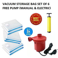 Vacuum Storage Bag Set with FREE Electric Air Pump