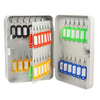 Metal Safety Lock Key Box Hook 48 Keys - Tempat Penyimpanan Kunci