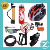 Paket lengkap helm sepeda murah