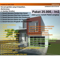 gambar desain rumah tinggal paket A