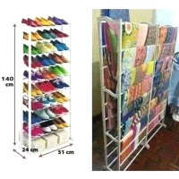 Amazing Shoe Rack / Rak Jilbab Kerudung Kain Scarf Susun 10 Tingkat