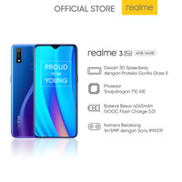 realme 3 Pro 4+64 GB (Prosesor Snapdragon 710 AIE VOOC Flash Charge)