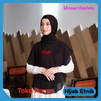 Khimar HIJAB SYARI Jilbab Instan Carlota PREMIUM 01 Black - Hitam