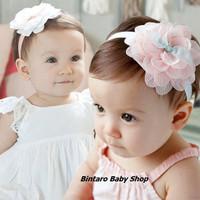 BABY HEAD BAND CUTE FLOWER / Bandana Bayi Renda Bunga Cute