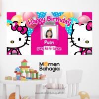 Backdrop / Banner Ulang Tahun Hello Kitty Murah Bagus