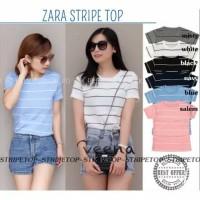 Outfit ab atasan wanita   kaos zr stripe   grosir baju murah