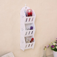 Storage Decorative Rack Shabby chic rak kosmetik hp remote dll