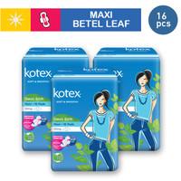 3 PACK Kotex Soft & Smooth Maxi Wing Daun Sirih (16pcs)