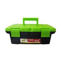 Toolbox Powerplus Besar/Tool Box/Kotak Perkakas Plastik Besi