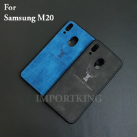 Samsung M20 JEANS CANVAS DEER MOTIF CASE