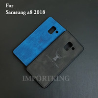 Samsung A8 2018 JEANS CANVAS DEER MOTIF CASE